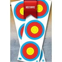 JVD World Archery Target Face 3x20cm Vert. Recurve