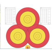 Danage Practice Target Face Multi Centre 3 Spot
