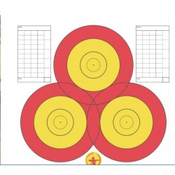 Danage Practice Target Face Multi Centre 3 Spot