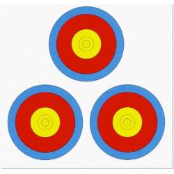 JVD World Archery Target Face 3 x 20cm Vegas